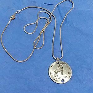 Vintage  Capricorn necklace unisex